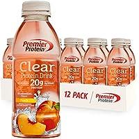 12-Pack Premier Protein Clear Drink Peach, 16.9 Fl Oz