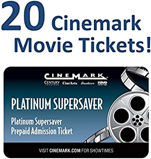 20 Cinemark Theatre Platinum Supersaver Movie Tickets (Save $35+)