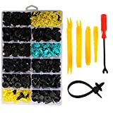 <span class='highlight'><span class='highlight'>Jetcloud</span></span> 640 PCS Car Retainer Kit, 14 Different Size Plastic Car Retainer Clips Door Bumper Retainer Set with Fastener Remover & Cable Ties