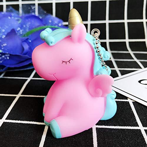 N / A 1 unids arco iris pvc animal unicornio llavero para hombres mujeres bolsa ornamento teléfono llavero llavero decoración bolsa