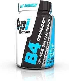 BPI Sports B4 – Extra-Strength Fat Burner – Keto-Friendly – Appetite Suppressant – Caffeine, Niacin, Quercetin, Yohimbine – 30 Servings – 710mg