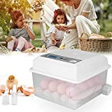 TOPQSC - Incubadora de huevos automática, mini incubadoras digitales con control de temperatura de turnero, máquina para hacer huevos de pato, huevos de ganso