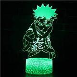 Naruto Uchiha série 3D veilleuse cadeau coloré lampe de Table LED lumière visuelle famille chambre décoration cadeau de noël