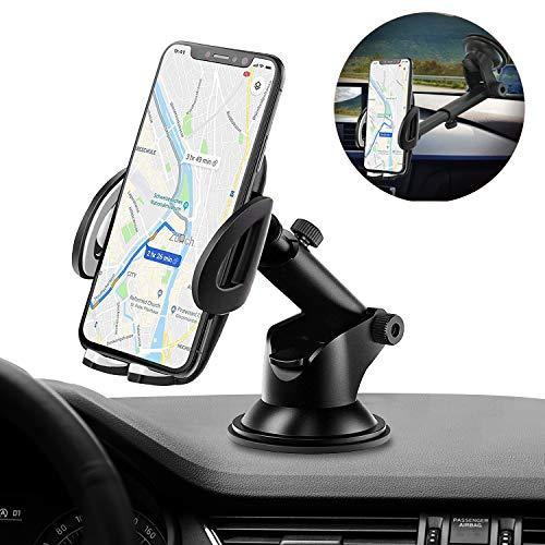 IZUKU Handyhalter fürs Auto Handyhalterung Auto Armaturenbrett/Windschutzscheiben/Tisch 3 in 1 Universal KFZ Handyhalterung Saugnapf KFZ Robust Smartphone Halterung Auto Kratzschütz für iPhone Samsung