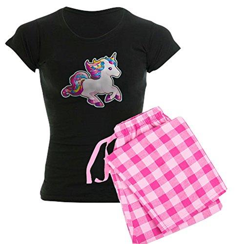 CafePress Kawaii Magical Candy Einhorn-Pyjama für Damen Gr. XL, with Pink Pant
