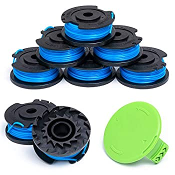 Durable Weed Eater String and Cap Combo Set Compatible with Most Greenworks Single Line Cordless Trimmers Easy to Install  8 Spools + 1 Cap