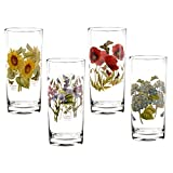 SERVE WITH STYLE: These Botanic Garden High Ball glasses come as a set of 4 with each glass featuring a different motif - Sunflower, Poppy, Sweet pea and Hydrangea. They will add extra sparkle to any table display. GREAT DESIGN: Creating a stunning m...