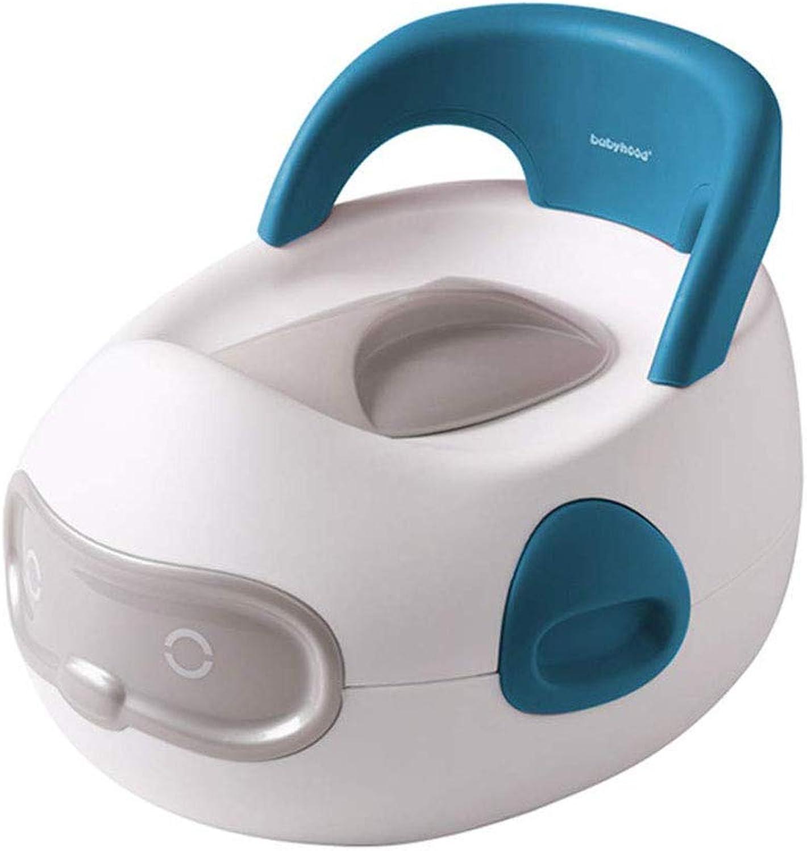 SZPDD Kinder-WC mit Toilettenbürste für Kinder,Blau,37.5x32x28.5cm