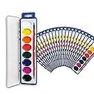 24 Watercolor Paint Set for Kids - 24 Units Bulk Watercolor Paint Sets for Kids - Coloring Set with 8 Water Colors of Washable Paint - Watercolor Palette as Paint Party Favors, Classroom Paint Tray, Water Coloring Paint for Kids, Kids Paint Set