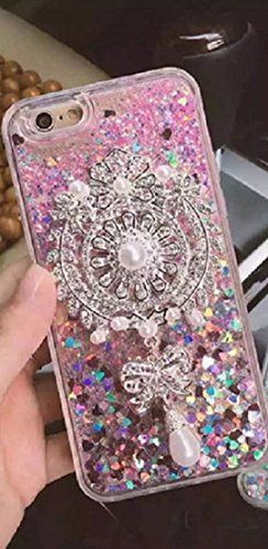 Creazy®Butterfly BOW Bling Rhinestone Leather Flip Case for Samsung Galaxy S6 Edge