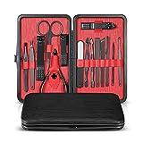 HJHJ Kit de manicura 304 de acero inoxidable cortaúñas Set de precisión afiladas para el hogar, pedicura, cuchillo de cuidado de uñas, kit de cuidado de uñas para hombres y mujeres, 15 en 1, color