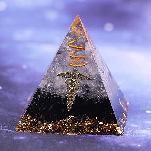 YZYZ - Pirámide de energía decorativa, cambio de campo magnético - Piedra de almacenamiento de energía, aura, resina curativa.