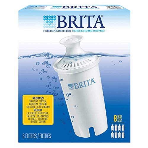 Brita Pitcher Replacement Filters 8 ct, White