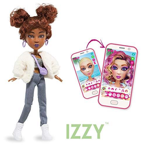 BANDAI YL30266 SnapStar– Ankleidepuppe 23cm– Izzy– personalisierbare Puppe mit Perücke und kostenloser App, um deinen eigenen Stil zu kreieren & zu teilen