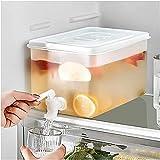 ZXYDD Hervidor de agua refrigerador barril de agua con grifo cubo de almacenamiento de gran capacidad limón jugo jarra de cocina utensilios hervidor olla