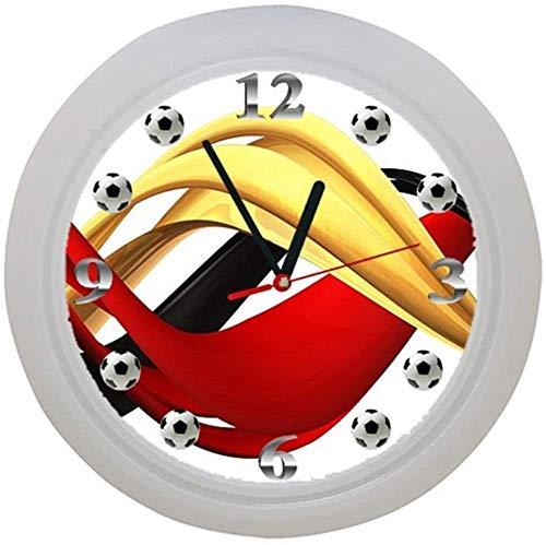 ✿ Kinderwanduhr in 4 Farben ✿ FUSSBALL football FUßBALL 3 Verein✿ Wanduhr ✿ Kinderuhr ✿ KEIN TICKEN ✿ mit/ohne Name