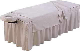 Massage Sheets Set - 3 pieces - Massage Table Skirt Sheet, Flat Sheet, Face Cradle Cover-Reusable, No-pilling, Anti-Shrink, Anti-resistant (Gray)