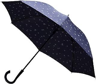 Edter傘 レディース 長傘ワンタッチ開閉 晴雨兼用 軽量耐風 丈夫撥水加工 台風・梅雨対策 8本骨おしゃれ かわいい1年間保証付き