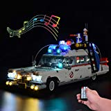 T-Club Upgrade RC LED Light Kit with Sound for Lego Ghostbusters Ecto-1 10274 , Lighting Kit Compatible with Lego 10274 ( Not Include Lego Set ) (with Sound RC)