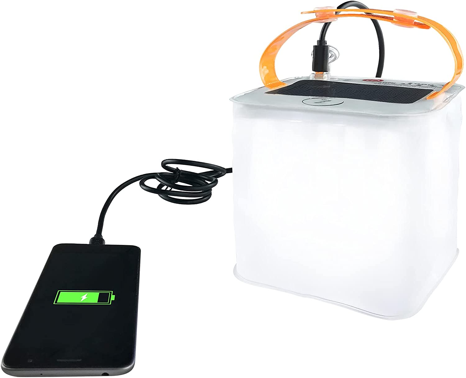 Solar Lantern Deluxe 2-in-1 Phone Charger for Camping Great Max 85% OFF Lanterns