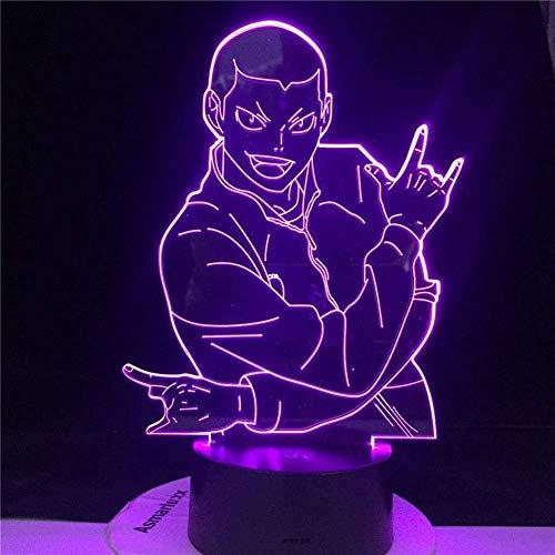 GEZHF 3D Night Light Toy Gifts for Kids RYUNOSUKE Tanaka LED Anime LAMP Haikyuu Manga Gift Anime 3D Lamp Otaku Gift Well Packed -with A Controller
