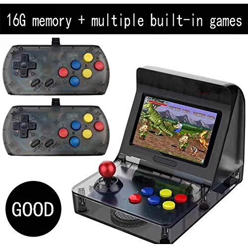 KUANDARGG Soportes remotos para Gamepad, Consola de Juegos Retro, Cargador de Gamepad, Controlador de Juegos Bluetooth inalambrico para Gamepad, Negro, Black