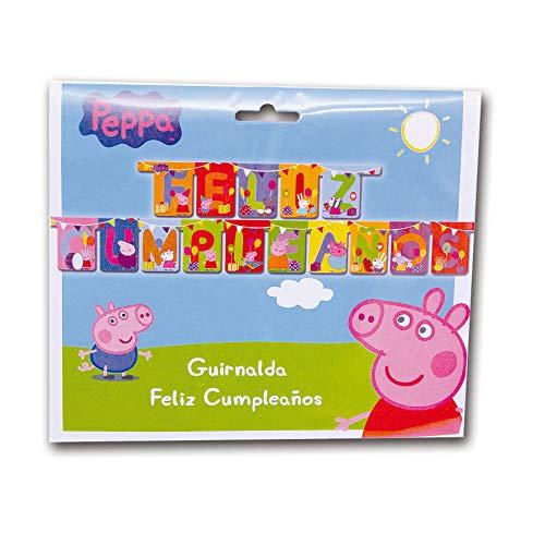 Peppa Pig 0787, Guirnalda Feliz cumpleaños, Fiestas y cumpleaños