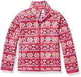 Amazon Essentials Zip-up Fleece Jacket Chaqueta, Pink Geo, XS (4-5)