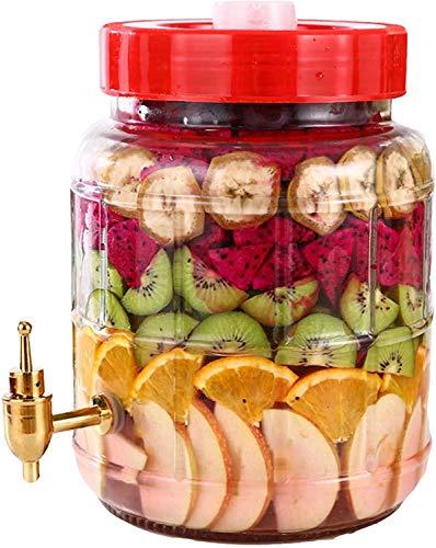 Barril De Enzimas De Frutas De Escape Automático, Tanque De Fermentación Hermética, Vidrio Sin Plomo, Botella De Vino Autoprocedida (Size : 16L)