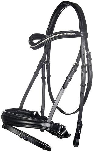 HKM 4057052365584 Anna Tendance d'équitation avec Gel Version 29100 Noir Chaud