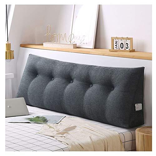 Stile semplice e moderno Cuscino del letto a cuneo Triangolare,Grande Schienale Morbido Cuscino di supporto lombare Cuscino di Lettura Cuscino Letto Divano sfoderabile in Velluto WGrigio5 80*20*50cm