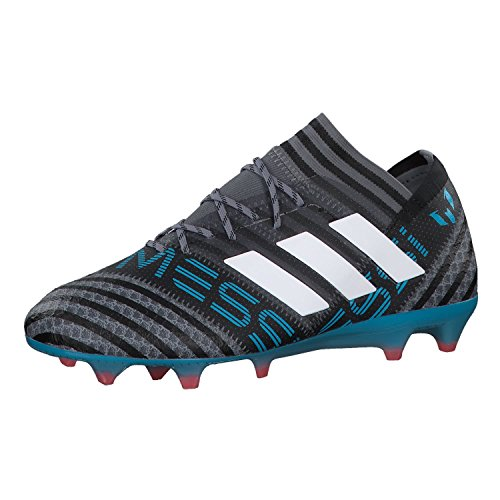 adidas Herren Nemeziz Messi 17.1 FG Fußballschuhe, Grau (Grey/Footwear White/Core Black), 45 1/3 EU