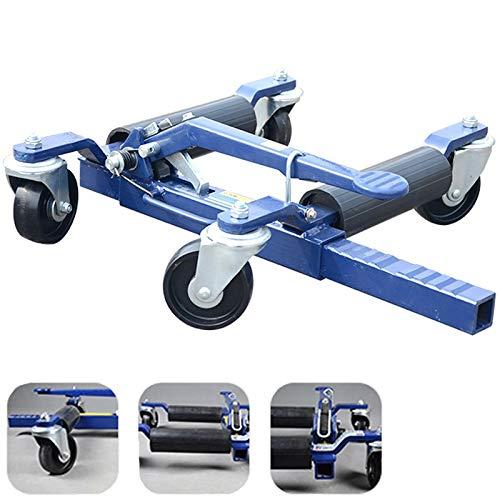 GJZhuan Rad Skate Dolly Jack, Auto Rad Dollies Skates, Fahrzeug Positionierung Jack Reifen Hubwagen, Mechanische Auto Umzug Trolley, Hand Dolly Trolley Wagen (4 Stück)