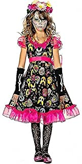 Seeing Red Sugar Skull Sweetie Kids Costume
