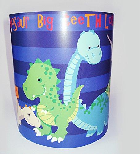 Dinosaure lumière/lampe – Motif à rayures Bleu