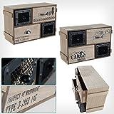 Mini Cómoda Gabinete De Almacenaje 3 Cajones Shabby Chic Vintage - [Fragile]-Almacenamiento