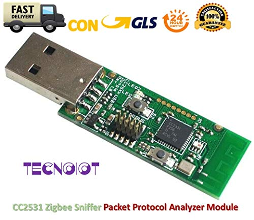 TECNOIOT Zigbee CC2531 Sniffer Bare Board Packet Protocol Analyzer Module USB Dongle