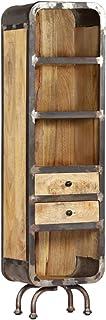 Tidyard Aparador Alto Cocina Mueble Auxiliar Armario de Baño de Madera Maciza de Mango 40x30x145 cm