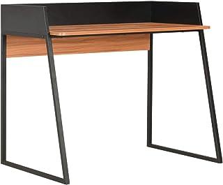 vidaXL Biurko z nogami w kształcie litery U, podwyższone oparcie, stolik pod komputer, stolik roboczy, stolik do laptopa, ...