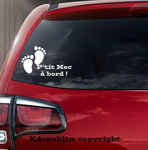 Sticker autocollant bébé à bord petit pied bébé petit mec de Kdosublim
