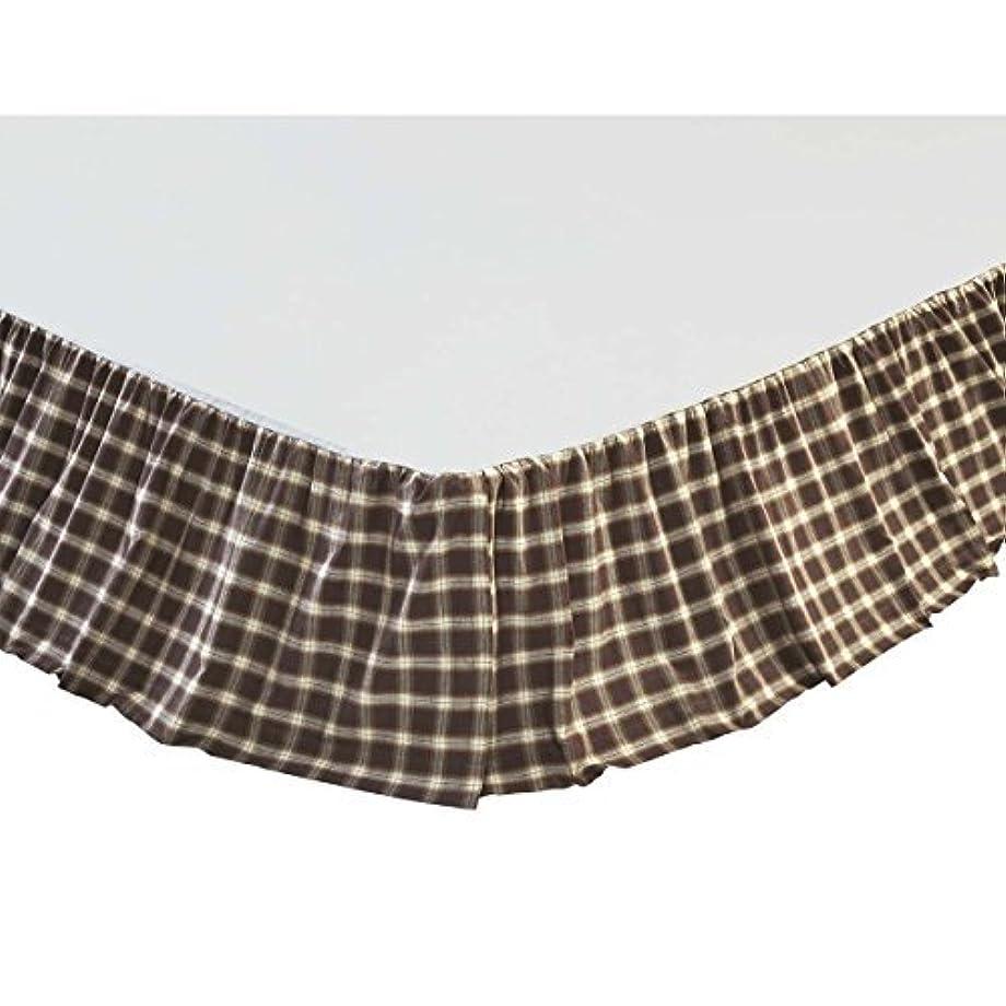司教禁止する実験的VHC Brands Rustic & Lodge Farmhouse Bedding-Rory Brown Skirt King [並行輸入品]