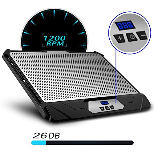 KLIM Swift Notebook-Kühler Aluminium Hochleistung für PC und Mac Cooling Pad Halter - Neue 2020 Version - Schwarz