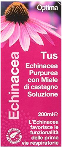 Optima Naturals Echinacea, Tus, Miele di Castagno, 200 Millilitri