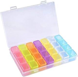 28 Slot Diamond Painting Storage Case - Aolvo Colorful Plastic Diamond Storage Containers for Diamond Painting Accessories...