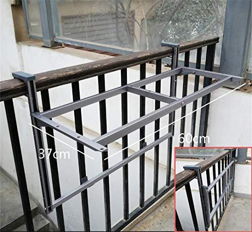 ZJHCC Marcos de Mesa de terraza Plegable para balcón, Altura Ajustable, Marco de Mesa de barandilla, para Patio, jardín, terraza, 60 * 37 cm (Solo Marco)
