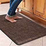 KMAT Kitchen Mat Cushioned Anti-Fatigue Floor Mat Waterproof Non-Slip Standing Mat Ergonomic Comfort Floor Mat Rug for Home,Office,Sink,Laundry,Desk 20'(W) x 30'(L),Brown