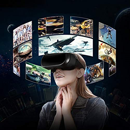 Hemgk 3D Virtual Reality Glasses Headset, V05 VR All-In-One Glasses, Durable and Comfortable, Compatible with iPhone/Android Phone, for Video, Movie, Entertainments