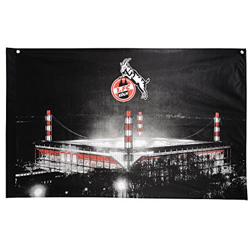 1. FC Köln Hissfahne/Hissflagge Stadion 140 x 90 cm (Fahne) (2 Ösen)