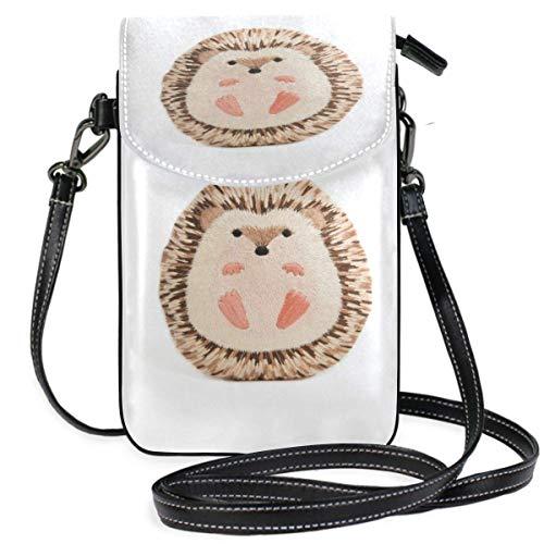 XCNGG bolso del teléfono Hedgehog Cell Phone Purse Wallet for Women Girl Small Crossbody Purse Bags