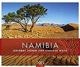 Namibia - Goldene Dünen und endlose Weite - Kalender 2021 - Weingarten-Verlag - Fotokalender - Wandkalender mit fantastischen landschaftsfotos - 54,8 cm x 45,8 cm
